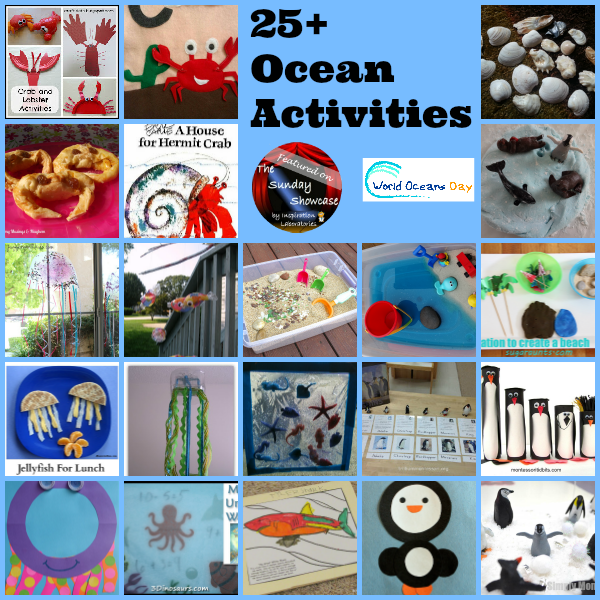 Celebrate World Oceans Day with 25+ Activities Featured on The Sunday Showcase at Inspiration Laboratories