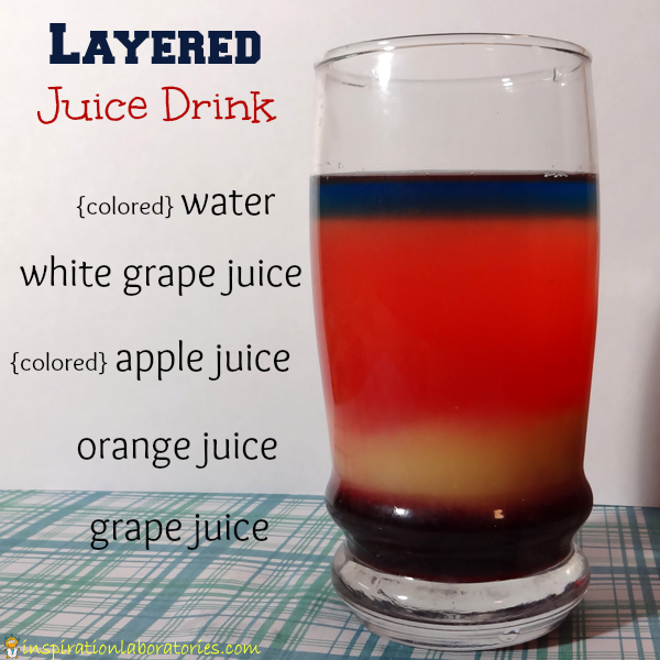 Create a layered juice drink with this tasty density experiment.
