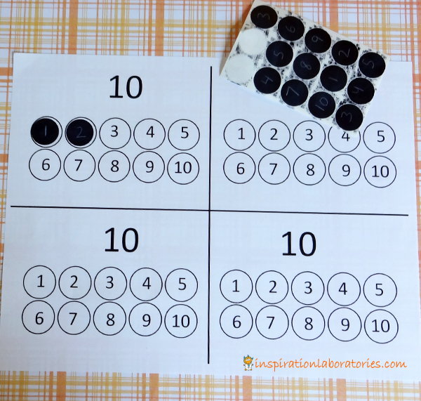 Ten Black Dots Number Matching