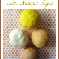 Gluten Free Playdough with Natural Dyes