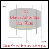 20 Maze Activities for Kids