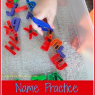 Name Practice Letter Hunt
