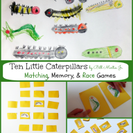Ten Little Caterpillars by Bill Martin Jr. {Virtual Book Club for Kids}