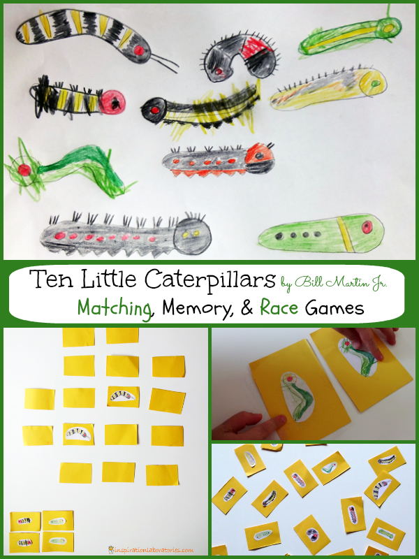 Ten Little Caterpillars Games to Go Along with the Book by Bill Martin Jr.