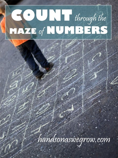 Counting Maze of Numbers from hands on : as we grow