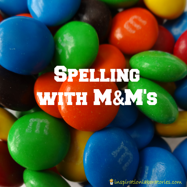 Spelling with M&M's and a Free Printable