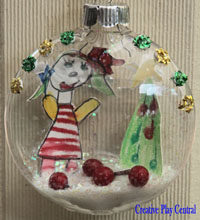 Christmas Bauble with Children's Art