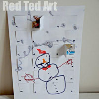 Advent Calendar from Children's Art
