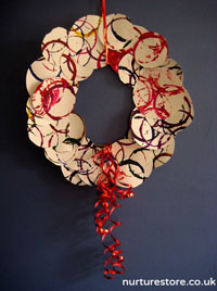 Christmas Wreath from Children's Art