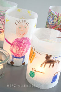 Lanterns from Children's Art