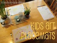 Placemats from Children's Art