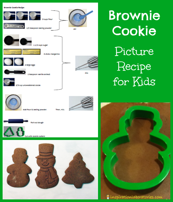 Brownie Cookie Picture Recipe - Day 14 of our Christmas Science Advent Calendar