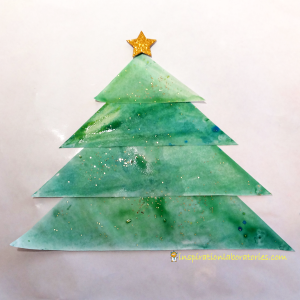 Christmas Science Advent Calendar: Baking Soda Painted Christmas Tree