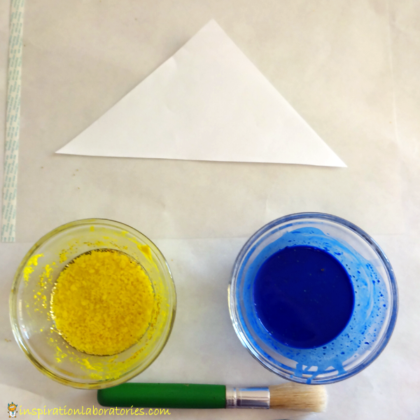 Christmas Science Advent Calendar: Baking Soda Painted Christmas Trees
