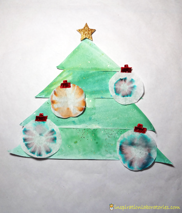 Chromatography Christmas Ornaments - Day 20 of our Christmas Science Advent Calendar