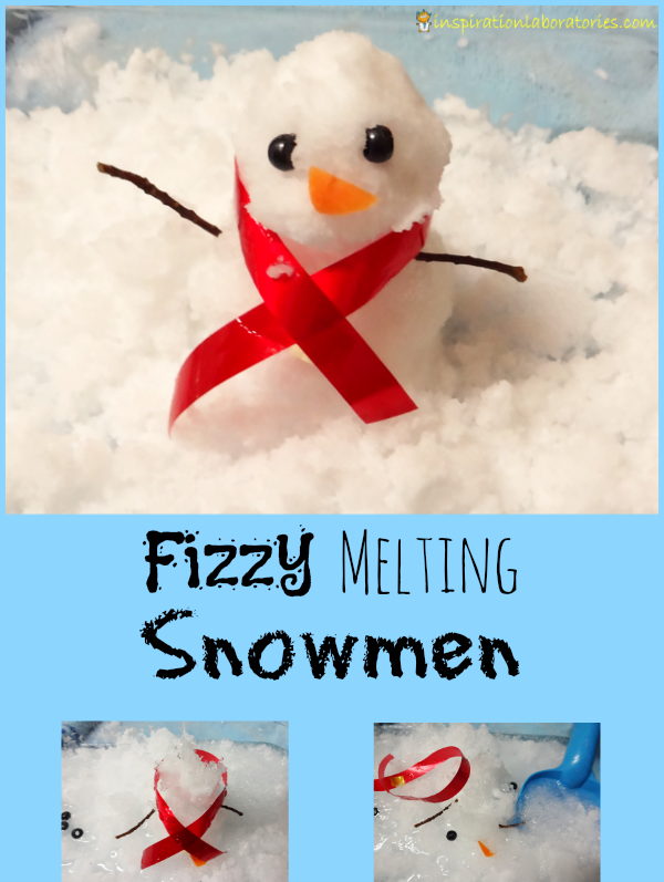 3 Fizzy Melting Snowmen - Day 17 of our Christmas Science Advent Calendar