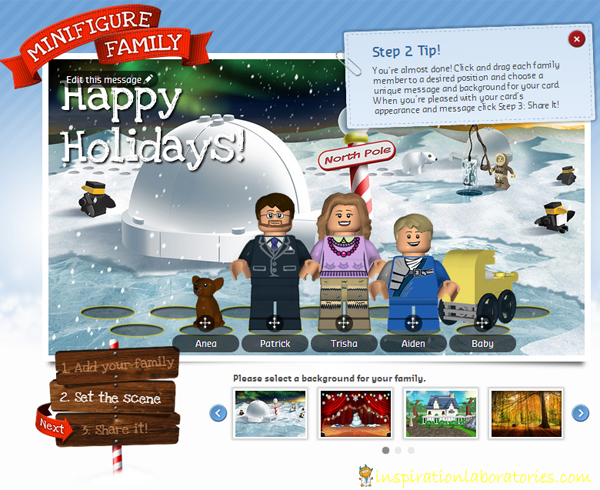 Make Your Own LEGO Minifigure Family Christmas Card | Inspiration ...