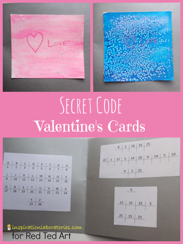 Valentine's Day Card for Kids: Secret Codes