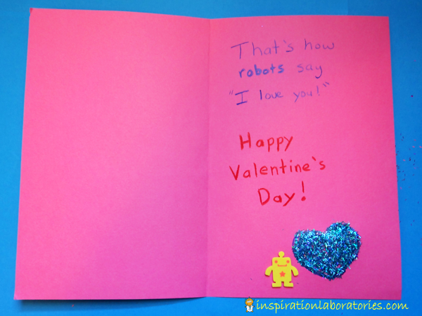 Robots and Glitter Valentines Day Card  Inspiration Laboratories