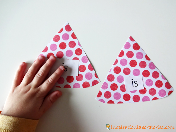 Party Hat Sight Word Matching Game