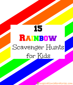 15 Rainbow Scavenger Hunts