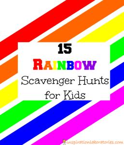 15 Rainbow Scavenger Hunts