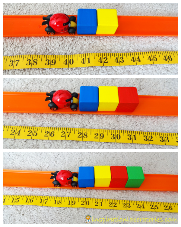Cars and Blocks Measuring Experiment