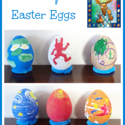 Artist Inspired Easter Eggs {Marcus Pfister Virtual Book Club for Kids}