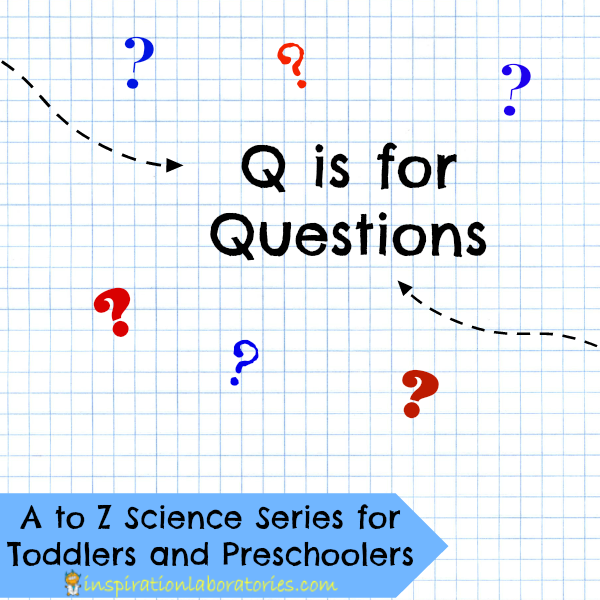 Q is for Questions - part of the A to Z Science Series for Toddlers and Preschoolers at Inspiration Laboratories