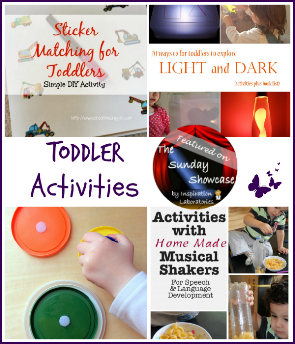Toddler Activities Featured on the Sunday Showcase at Inspiration Laboratories