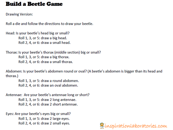 Build a Beetle Drawing Game Inspired by Beetle Bop by Denise Fleming