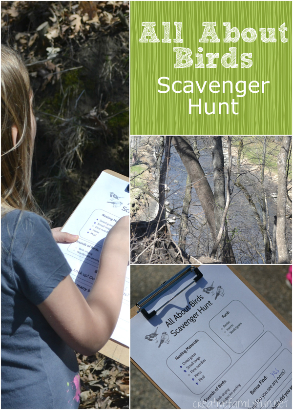 All About Birds Scavenger Hunt from Terri at Creative Family Fun