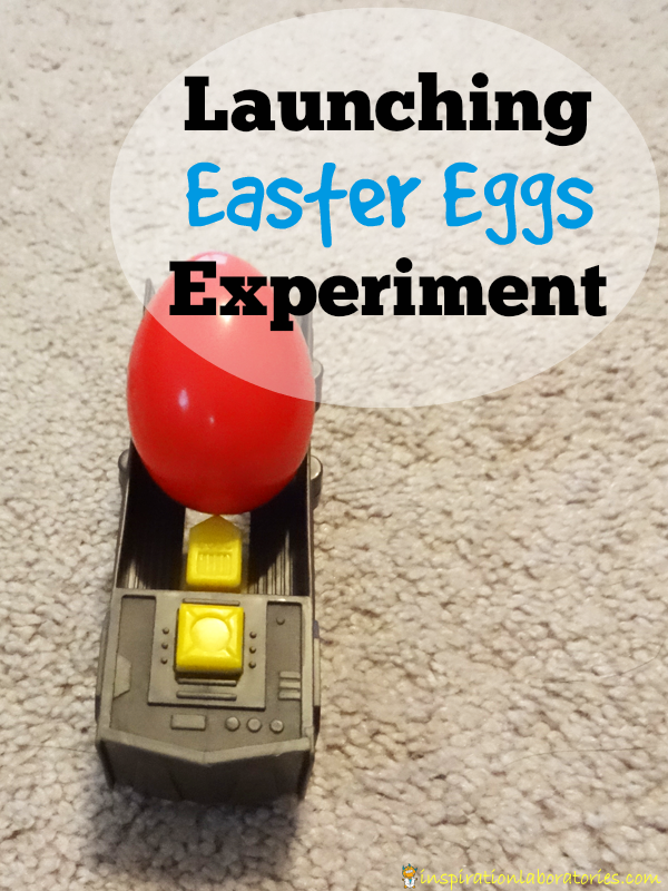 Launching Easter Eggs Experiment - How far will the eggs travel with different weights?