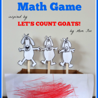 Counting Goats Math Game {Mem Fox Virtual Book Club for Kids}