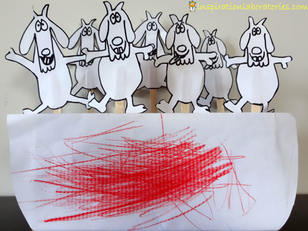 Counting Goats Math Game Inspired by Let's Count Goats by Mem Fox - part of the Virtual Book Club for Kids