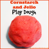 Cornstarch and Jello Play Dough