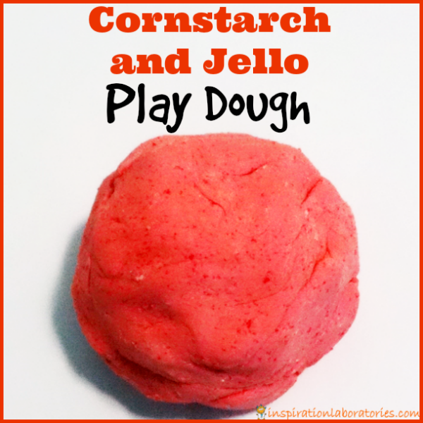 Cornstarch and Jello Play Dough - soft, squishy, and smells great!