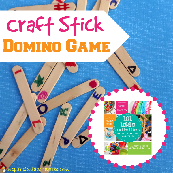 Craft Stick Domino Game - Find this activity and more in 101 Kids Activities That Are the Bestest, Funnest Ever!