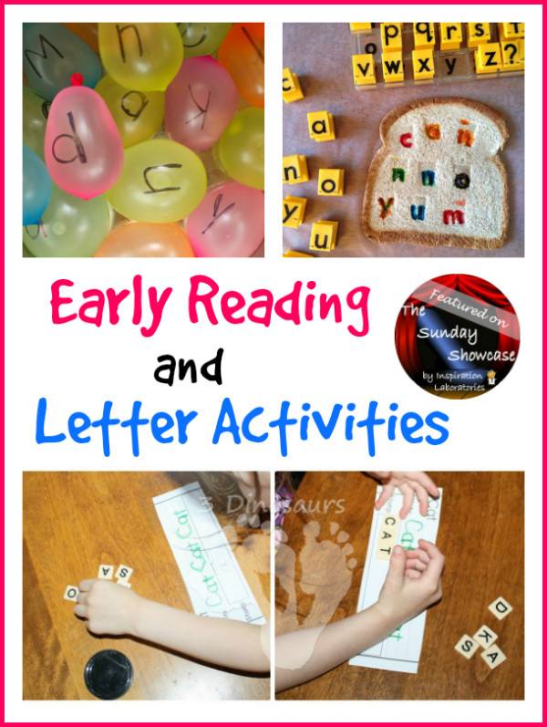 Early Reading & Letter Activities Featured on the Sunday Showcase at Inspiration Laboratories