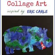 Tissue Paper Art Inspired by Eric Carle {Virtual Book Club for Kids}