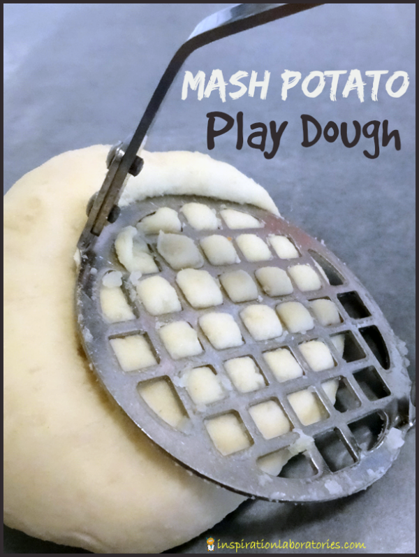 Mash Potato Play Dough - This two ingredient {technically} edible play dough is great for toddlers!