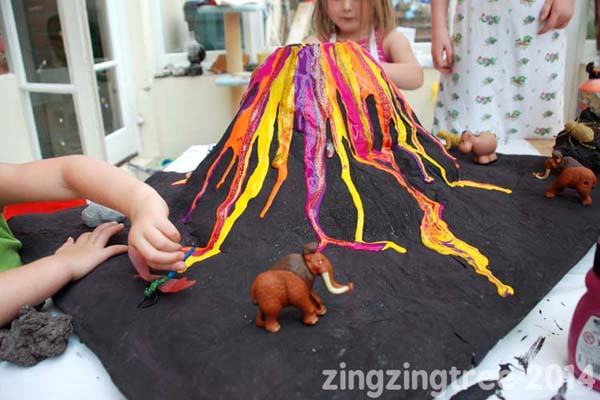 Papier Mache Volcano from Zing Zing Tree