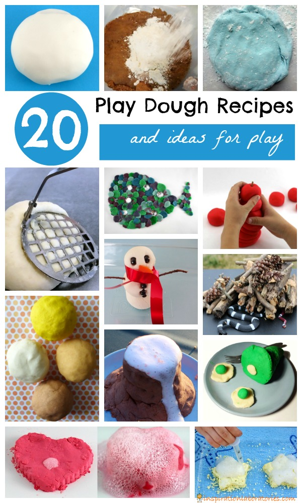 Play dough recipes and ideas for play