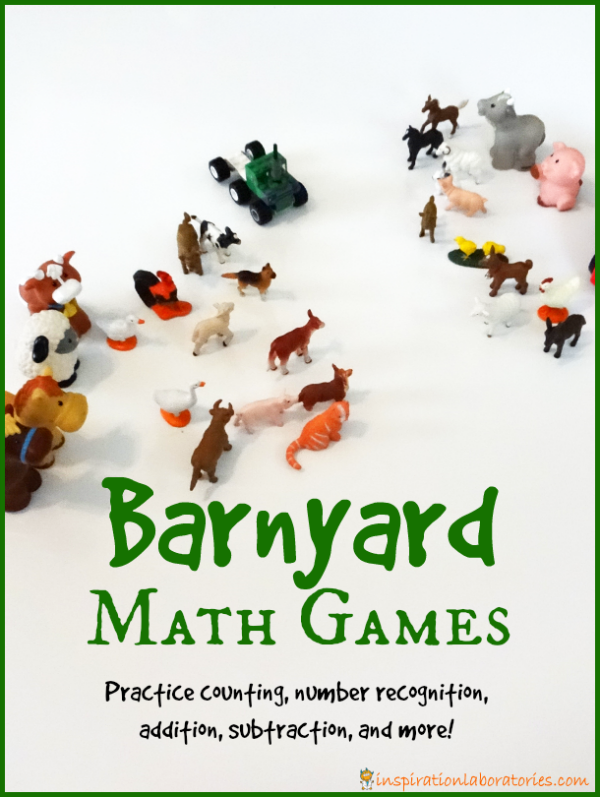 Barnyard Math Games inspired by Cock-a-Doodle-Doo! Barnyard Hullabaloo by Giles Andreae {part of the Virtual Book Club for Kids}
