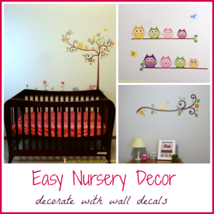 Lily's Nursery: Owl Wall Decals