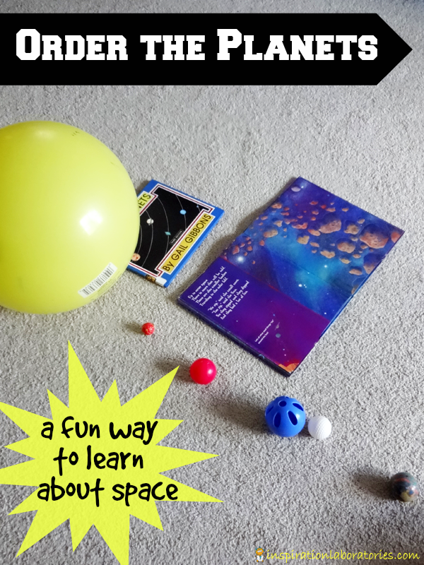 Place the planets in order and make a solar system model.
