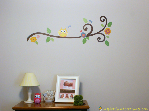 Ideal Owl and Branch Wall Decal