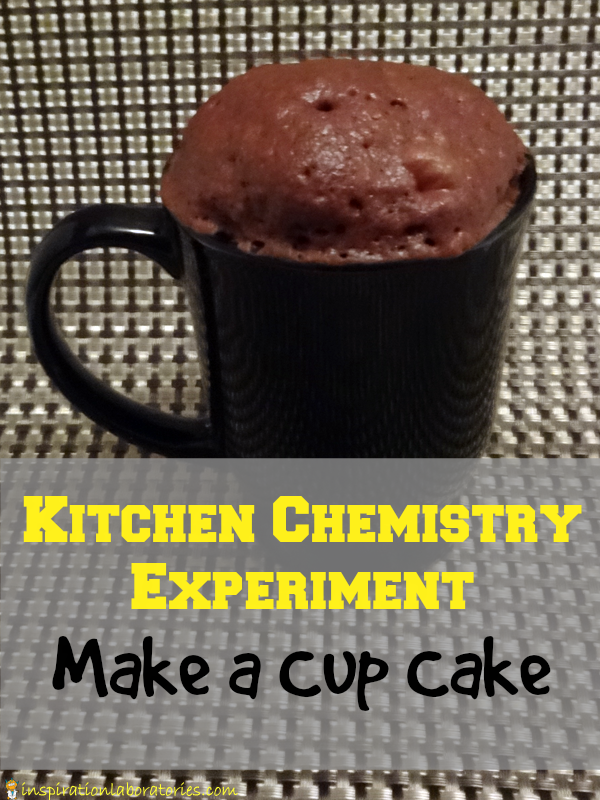 Kitchen Chemistry Experiment: Make a Cup Cake {in the microwave}