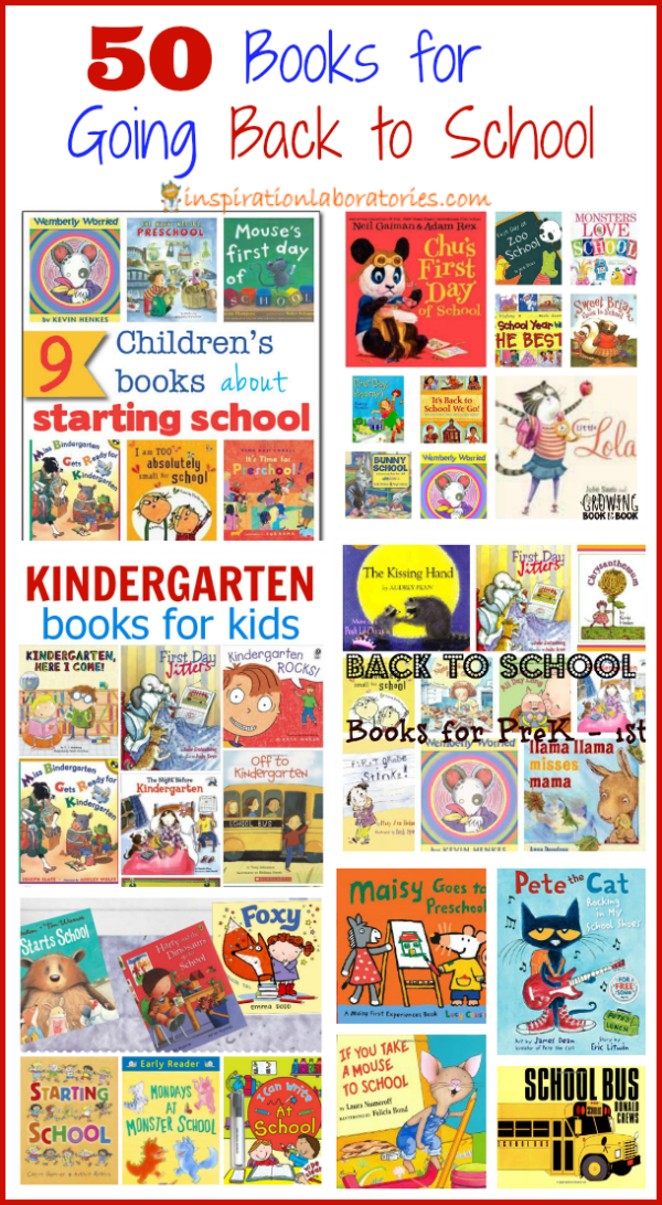 50 Books for Going Back to School Featured on the Sunday Showcase at Inspiration Laboratories