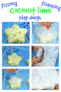 Fizzy Coconut Lime Play Dough {Aliki Virtual Book Club for Kids}